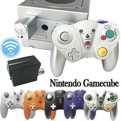 2.4G Wireless Game Controller +Receiver Adapter for Nintendo Gamecube Wii GC NGC