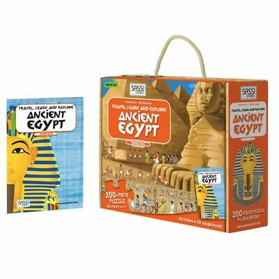 NEW SASSI Travel, Learn, & Explore Ancient Egypt Puzzle & Book