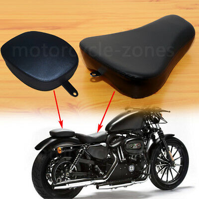 Front Driver Solo Seat +Rear Passenger Pad For Harley Sportster XL1200 883 72 48