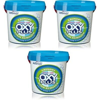 3 x Astonish Oxy-Plus Multi Use Super Concentrated Laundry Stains Remover 1kg