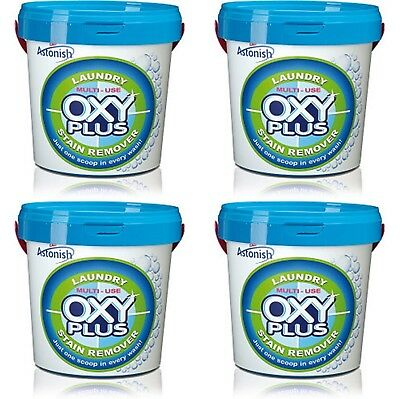 4 x Astonish Oxy-Plus Multi Use Super Concentrated Laundry Stains Remover 1kg