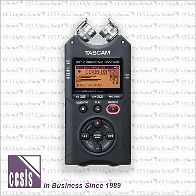 Tascam DR40 4-Channel Digital Recorder with XLR Inputs and Adjustable Mics