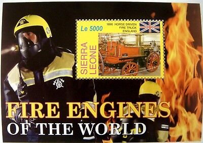Fire Engine Stamps Souvenir Sheet Mnh 2005 Sierra Leone Fire Trucks Of The World