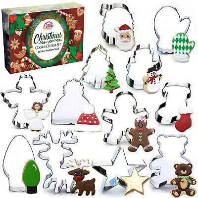 Christmas Cookie Cutter Set - 12 Piece Stainless Steel