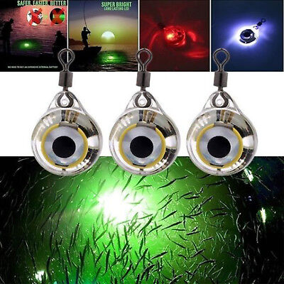 Excelvan Fishing Light Night Fluorescent Glow LED Underwater Eye Shape Fish Lure