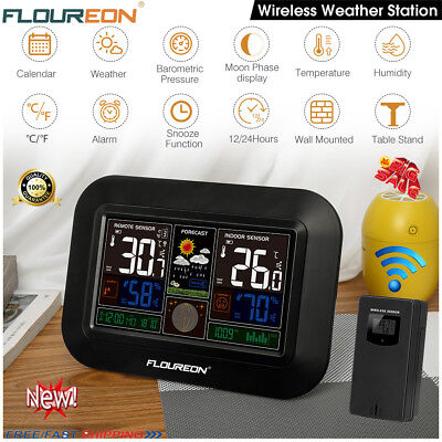 Digital COLOR LCD Wireless Weather Station Temperature Humidity Barometer&Sensor