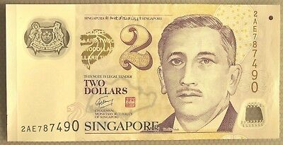SINGAPORE Education 2 Dollars Banknote World Paper Money EF  # 2AE787490