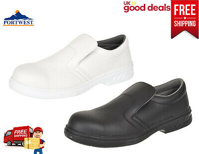 Portwest Steelite Slip On Safety Shoes Food Catering Chef Hospital Medical FW81