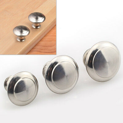 10pcs Drawer Stainless Steel Knobs Handles Kitchen Cupboard Round Cabinet Pulls