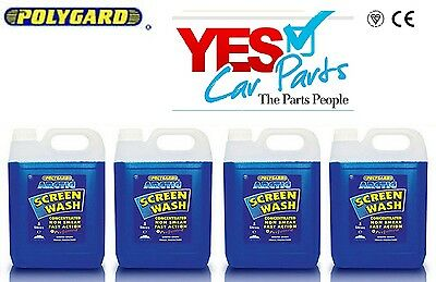 4 X 5 Litres Screen Wash Winter -20C High Quality Concentrate - Limited Offer
