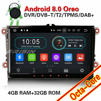 "9"" Android 8.0 GPS Autoradio Für VW Golf Caddy Passat Jetta Polo Skoda SEAT DAB+"