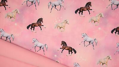 DIGITAL Soft Shell Waterproof Breathable Fabric Material - HORSES