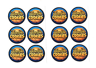 Jaffa Cake Cookies 19 Dram / Pop Top Cali Stickers x 10