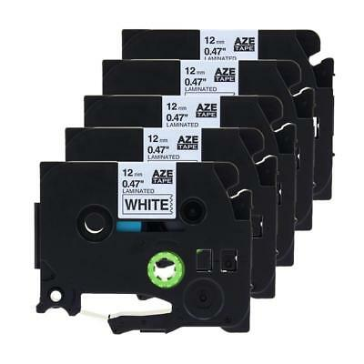 5PK-Compatible-for-Brother-TZ-231-TZe231-P-Touch-Black-on-White-Label-Tape-12mm