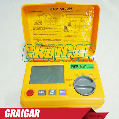 TES-1700 Digital Earth Resistance Tester Meter Capable of Measuring Earth