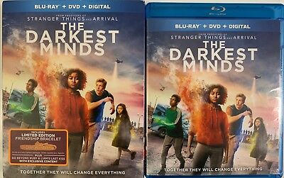 The Darkest Minds Blu Ray Dvd 2 Disc Set + Slipcover & Limited Edition Bracelet