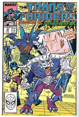 Transformers #40, Near Mint Minus Condition