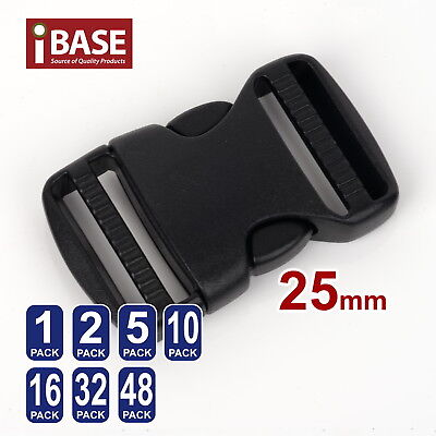 Quick Release Buckle Clip Side Cord Strap Fastener Belt Dual Adjustable Bag 25mm