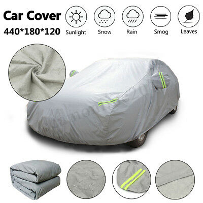 M Full Car Cover Waterproof Breathable Snow UV Protect Resistant Indoor Outdoor