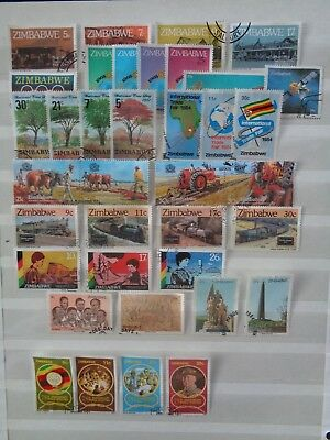 ZIMBABWE 1980's 11 x COMMEMORATIVE SETS VFU USED EX FDC 37 STAMPS