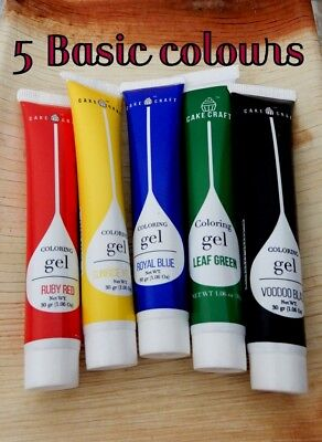 CONCENTRATED 30g GEL COLOURS CAKE DECORATION SUPPLIES ICING FONDANT FOOD PASTE