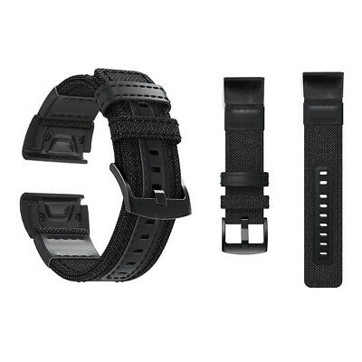 Personalized Quick Woven Nylon Splice Leather Band Strap For Garmin Replacement