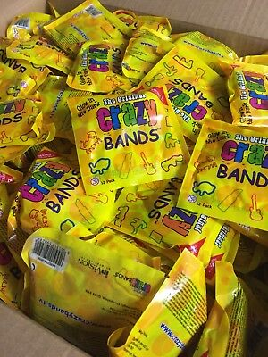 job lot wholesale Crazy bands loose packets x 50 ideal  party bag filler toys
