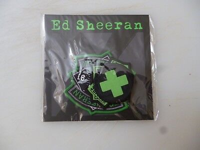 Ed Sheeran Multiply X  Tour Cloth 3 Patch Set    ( New/Sealed )