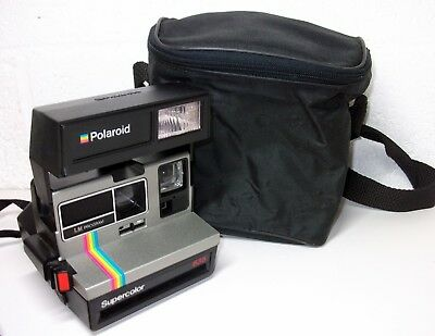 Vintage Polaroid Supercolor 635 Instant Camera with Carry Bag