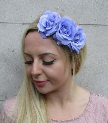 Lavender Light Purple Rose Flower Fascinator Headband Floral Lilac Races 6420