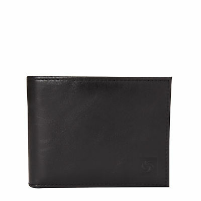 Samsonite Mens Leather 2 Compartment Wallet Black - Luggage