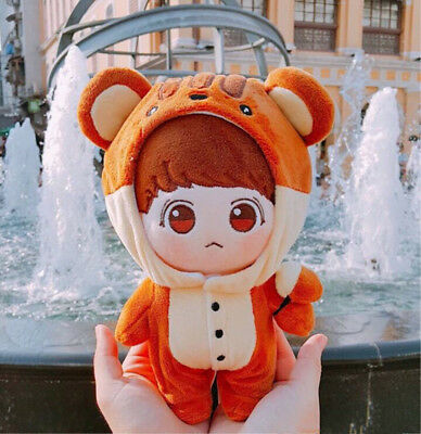 20cm KPOP BTS Plush Squirrel JUNGKOOK Doll Toy with Hamster Suit Limited New