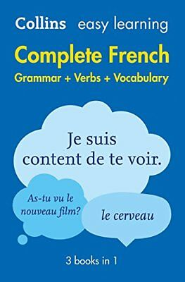 Easy Learning French Complete Grammar by Collins Dictionaries New Paperback Book