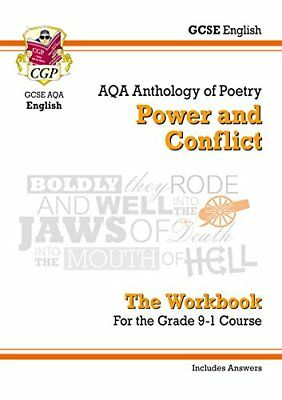 New GCSE English Literature AQA Poetry Workbook: Power by CGP New Paperback Book