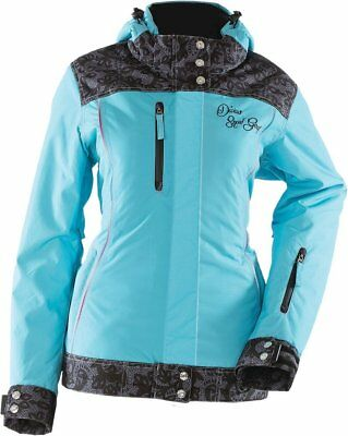 Diva's Lace Collection Ladies Snowmobile Jacket - Powder Blue Xs