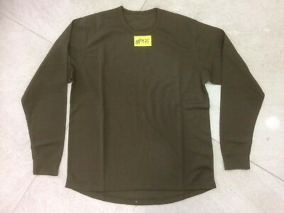 NEW British Army Self Wicking Combat L/S T-Shirt GN L Anti-Static PACK OF 3 #975