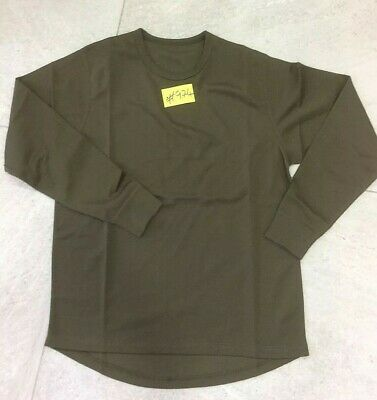 NEW British Army Self Wicking Combat L/S T-Shirt GN M Anti-Static PACK OF 3 #974