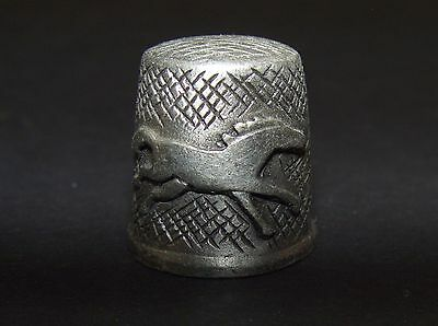 Pewter Souvenir Collectible Thimble - Running horse