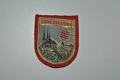 Vintage Luxembourg Patch On Red Felt