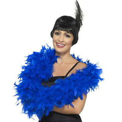 Deluxe Blue Feather Boa
