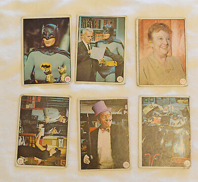 Batman Vintage 1966 Topps Trading Cards #32, #11, #39, #26, #37, #31