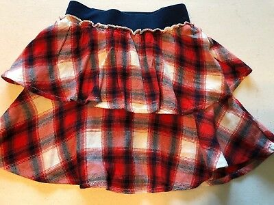 New Baby Gap Girls 4T Flannel Skirt Tiered Plaid
