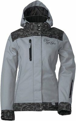 Diva's Lace Collection Ladies Snowmobile Jacket - Grey Large