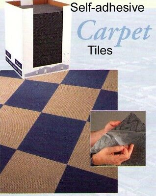 Self Adhesive carpet tiles kitchen floor contract black red beige blue office