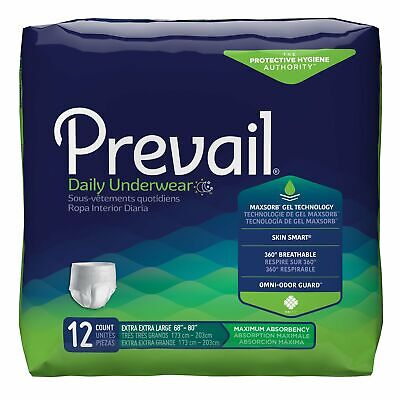 Prevail® Daily Underwear Disposable Underwear 2X-LARGE PV-517 48 /Case