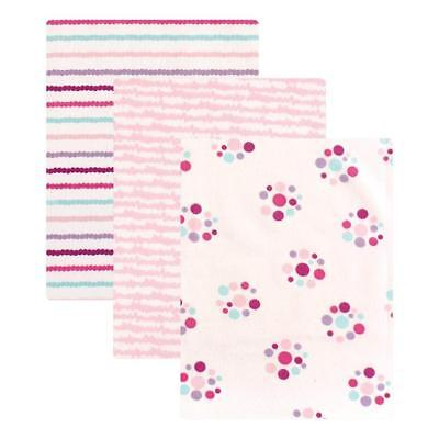 Luvable Friends Baby Girls 3 Pack Pink Flannel Receiving Blankets New Baby Gifts