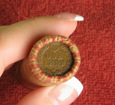 One Unopened Indian Head Cent Wheat Penny Shotgun Roll From Estate .. R6