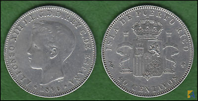 XF-aUNC CONDITION 3RW 25DES SPAIN 2 CENTS ALFONSO XIII 1904