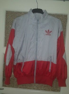 ADIDAS ORIGINALS RETROJACKE Gr. ML, Trainingsjacke, rotweiss, RARE