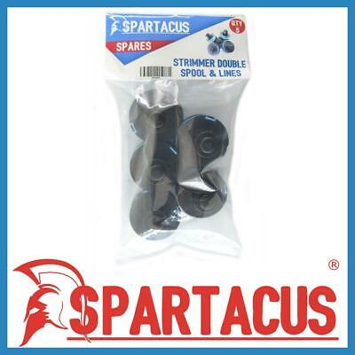 Pack of 5 Spartacus Spool and Blue Strimmer Trimmer Single Line for Many Brands